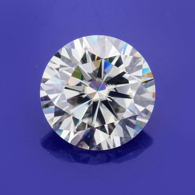 Pasar una piedra brillante corte moissanites sueltos IJ diamante de color de 4,5 mm 0,35 quilates ronda