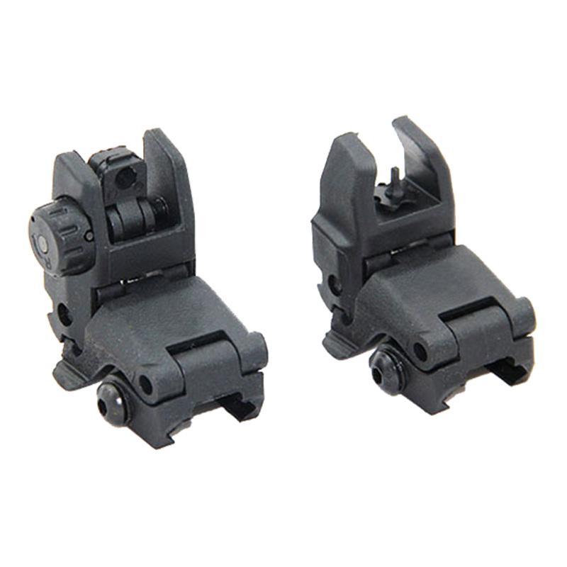 전술적 인 M4 AR15 AR-15 전면과 후면 뒤집기 시력 빠른 전환 백업 Picatinny Rail의 접이식 시력