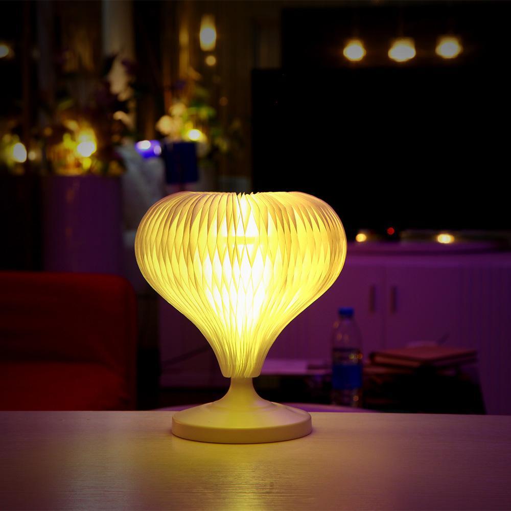 Nouveauté Coloré Pliable Changeable Mini LED USB Lampe de bureau DuPont Paper Touch Variété Formes Nuit Lumière Lecture Table Éclairage