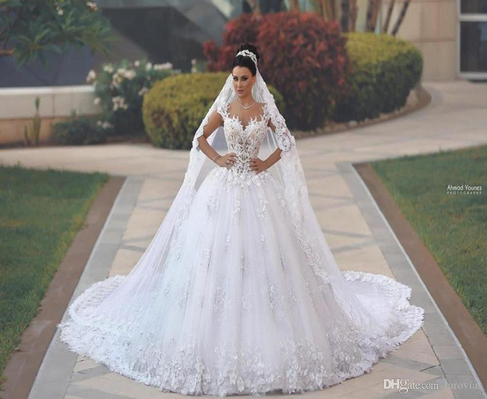 Princess Style Wedding Dress with 3D Flowers High Quality Bridal Gown Bride Wear Dress For Bride
