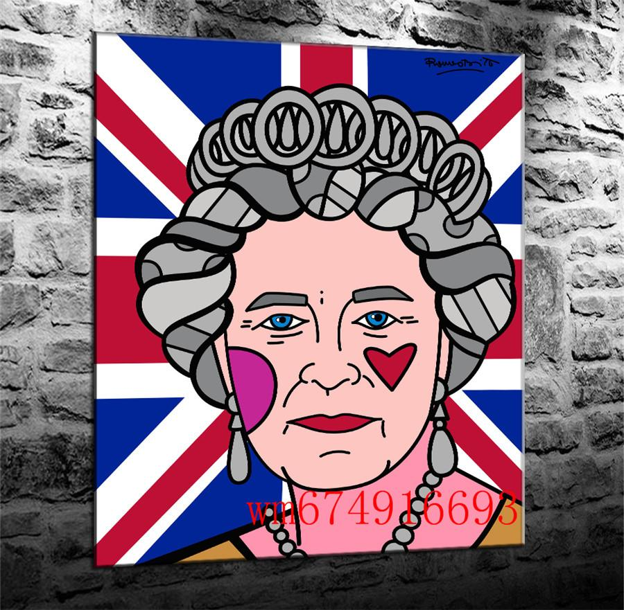 2019 Queen Elizabeth Canvas Pieces Home Decor Hd Printed Modern Art Painting On Canvas Unframed Framed From Wm674916693 6 41 Dhgate Com
