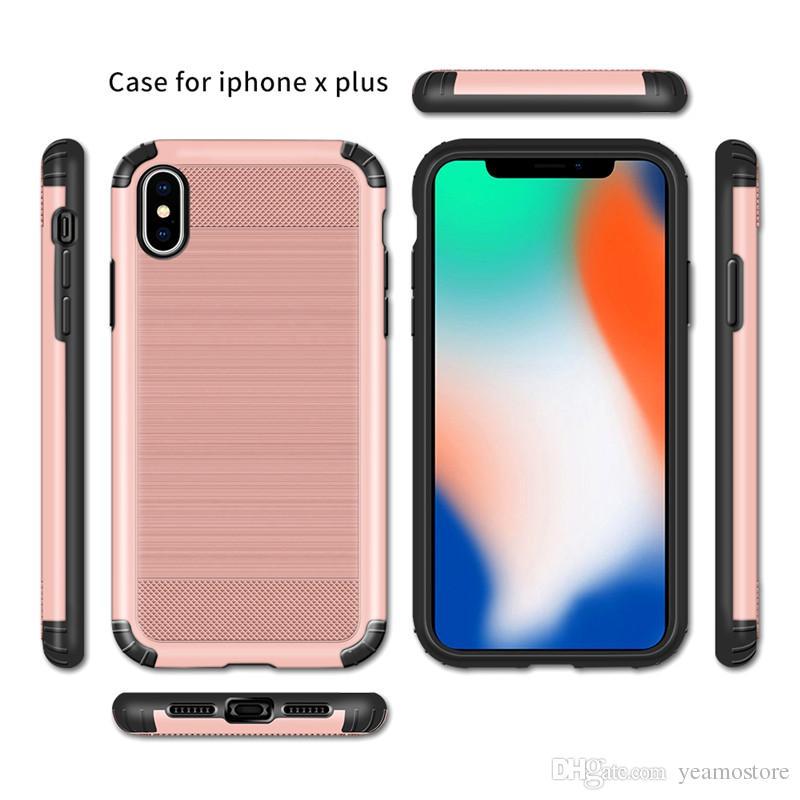 Étui hybride brossé Armure pour iPhone XS XR XS MAX antichoc silicone TPU Dur téléphone cas pour iphone XS MAX cas
