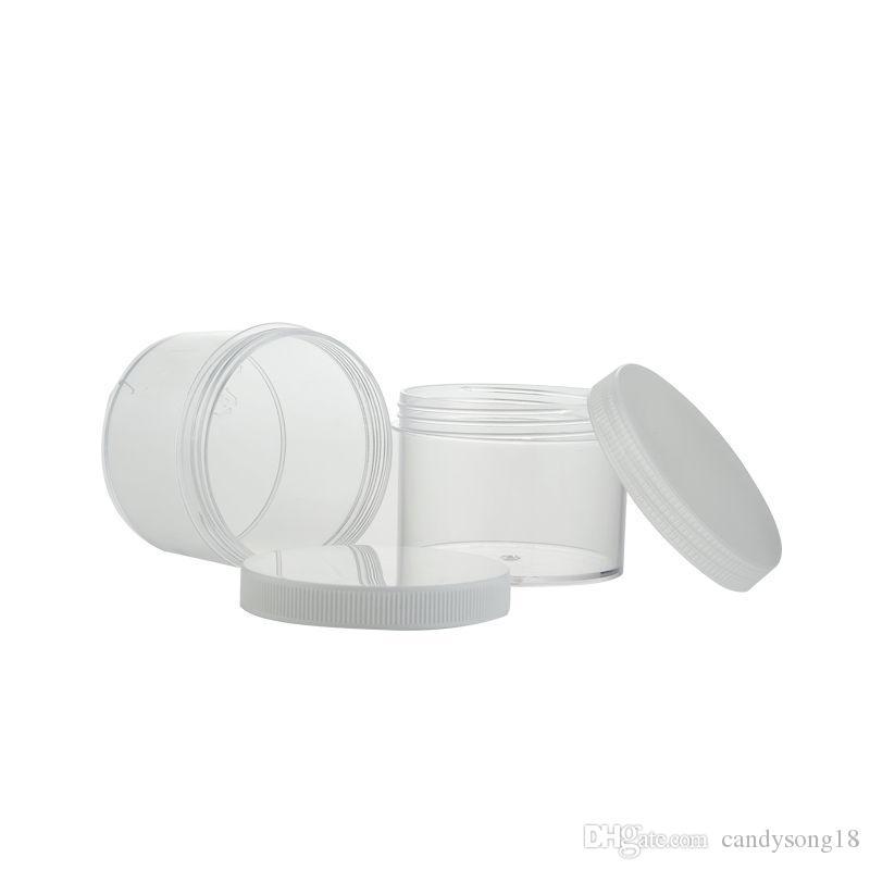 Botella de 200 ml de PS, envase cosmético de 200 g, embalaje cosmético, maceta de crema con tapa rápida blanca, envío rápido F902