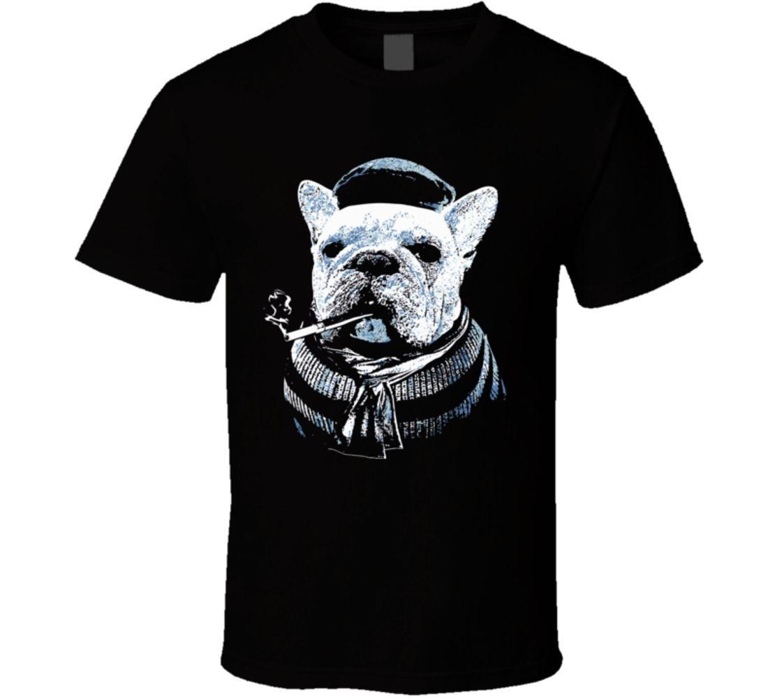Mens Vintage Cute Dog French Bulldog T-Shirt Est