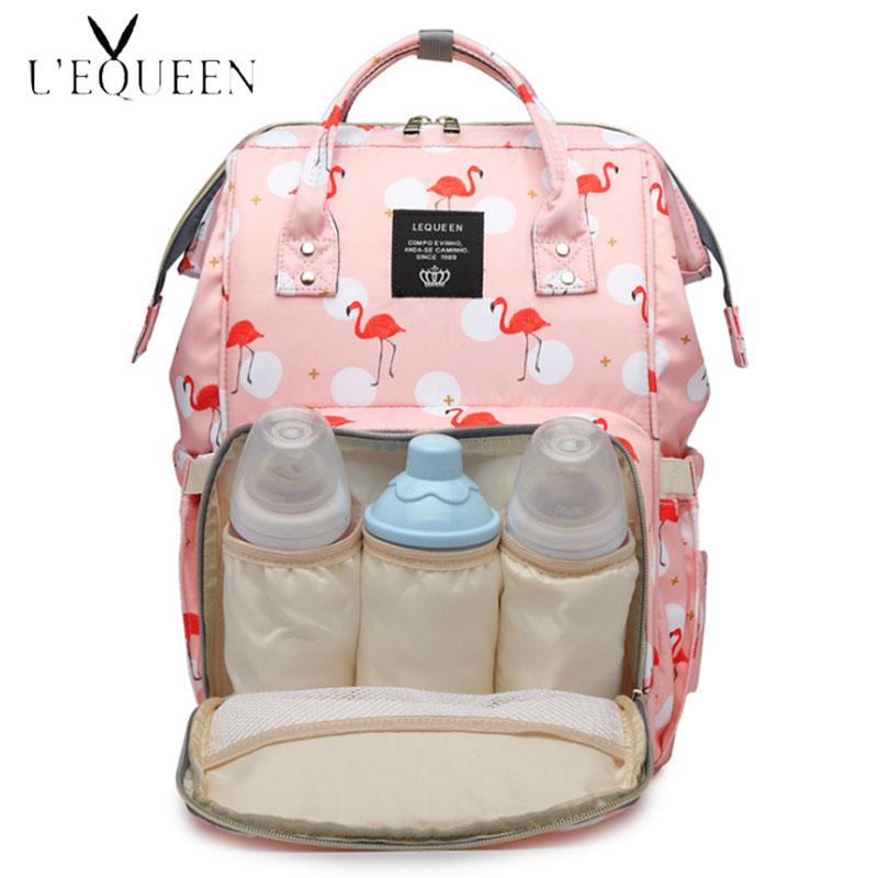 Lequeen bolso maternal bolsa de maternidade conjunto mom backpack large capacity baby bags for mom baby care diaper bag