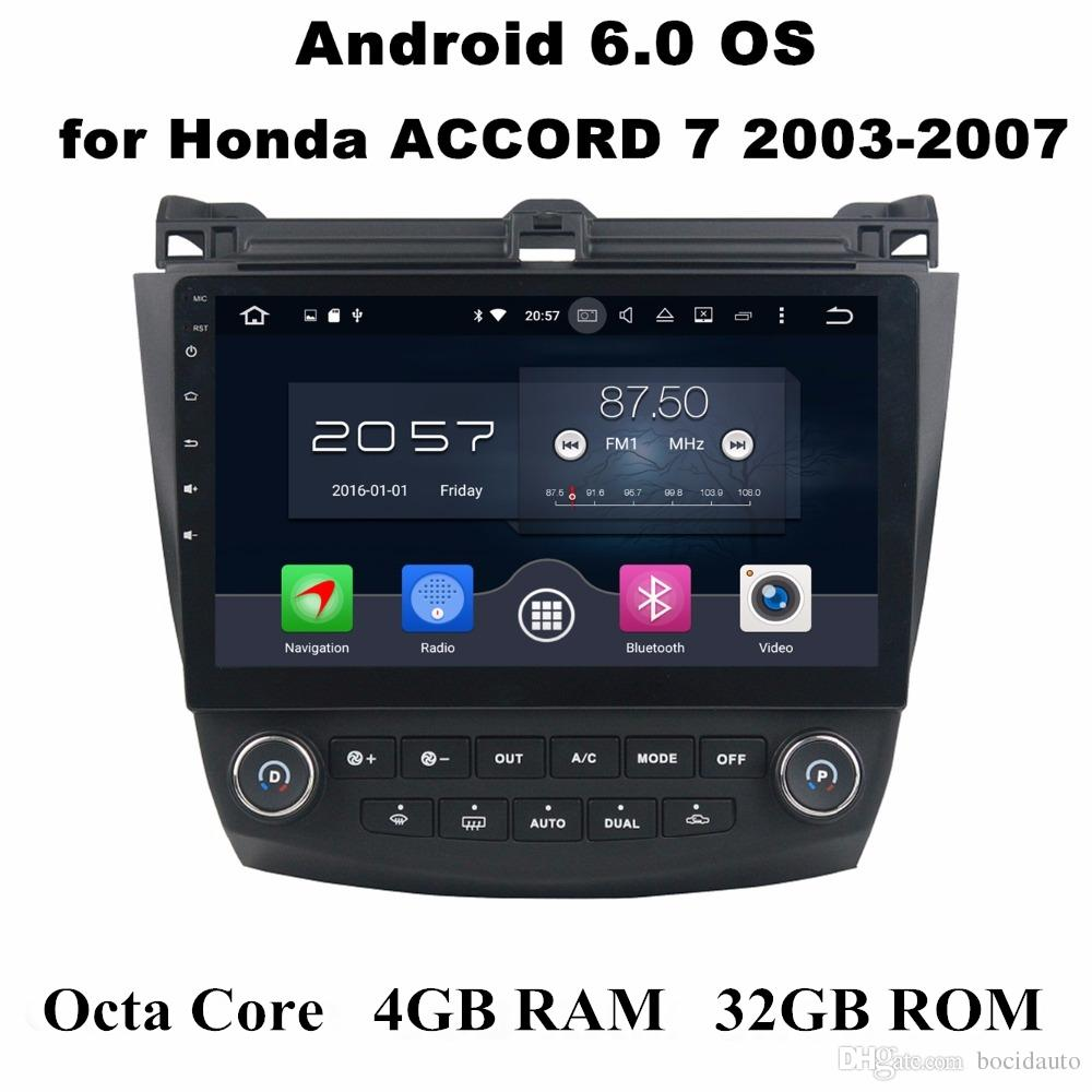 "10.1 ""Android 7.1 Araba DVD Oynatıcı Araba Radyo GPS Multimedya Kafa Ünitesi Honda ACCORD 7 2003 2004 2005 2006 2007 4 GB RAM BT WIFI USB"