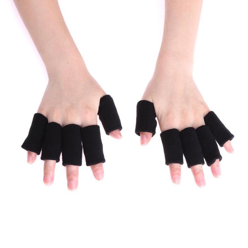 10pcs Sport Finger Splint Guard Bands Bandage Support Wrap Gym Basketball Volleyball Football Fingerstall Sleeve Caps Protector