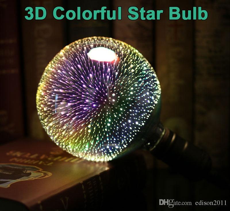 Edison2011 светодиодные лампы E27 3D фейерверк декоративные Edison лампа 220 В партии лампа A60 ST64 G80 G95 G125 праздник Рождественские украшения свет