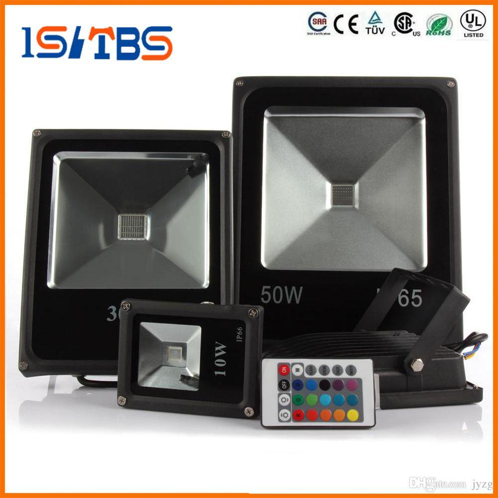 LED 홍수 빛 AC85V-265V LED 홍수 빛 10W 20W 30W 50W RGB 방수 IP65 반사체 주도 투광 조명 정원 스포트 라이트 야외 스포트 램프