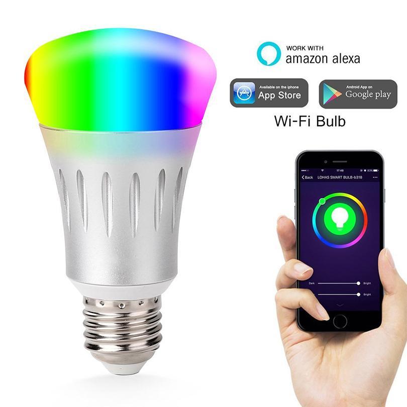 Wifi Light Bulb >> Wifi Bulbs Smart Bulb Wifi Led Light Bulbs Rgb Remote Controlled By App Compatible With Alexa Google Home Changeable Colors Lighting Smart Smart