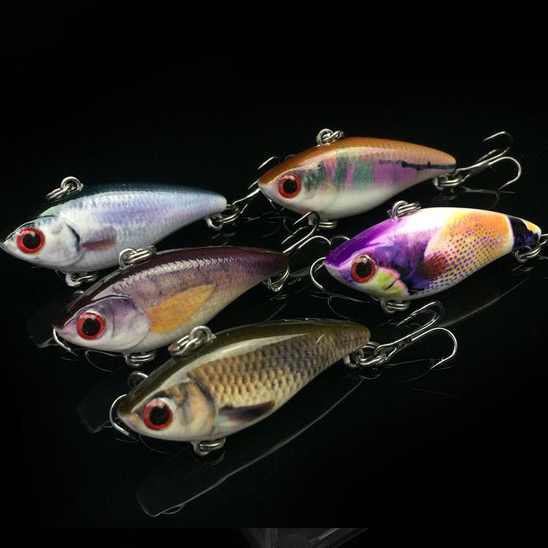 Fishing Mini vib Lure Hard Bait 3.5g / 4cm Esca vibrazione artificiale Kit 5 pezzi Set con custodia