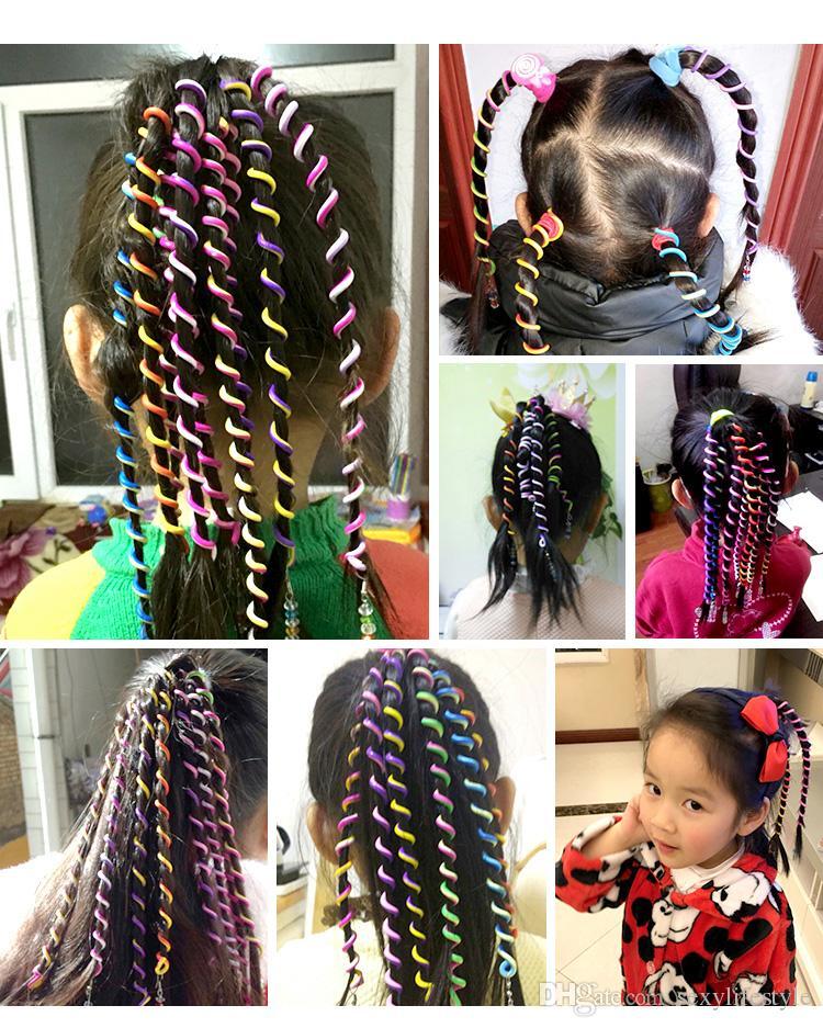 6PCS/Lot New Cute Girls Headband Colorful Crystal Long Elastic Hair Bands Hairwear Children Gift Hairbands Kids Hair Accessories