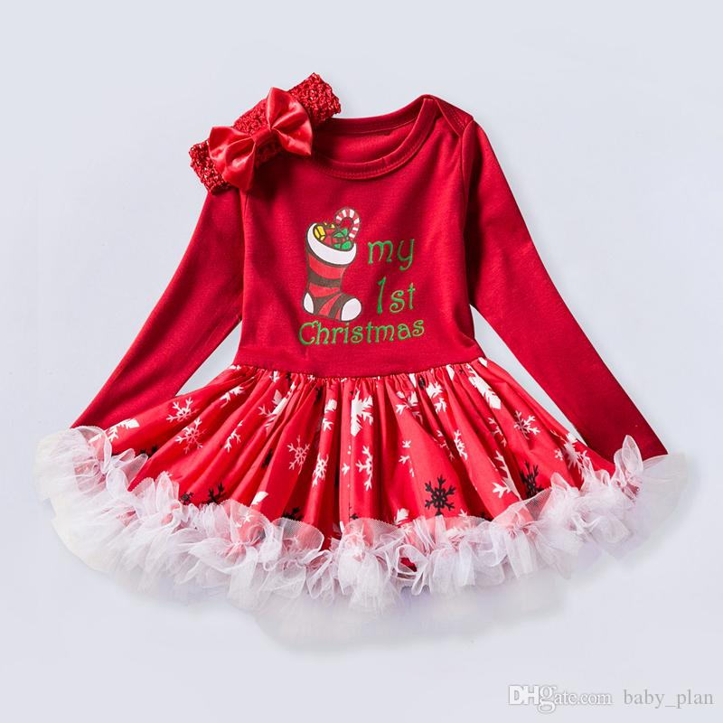 Christmas Santa Toddler Lace Holiday Boutique Dress Outfit Infant Clothing