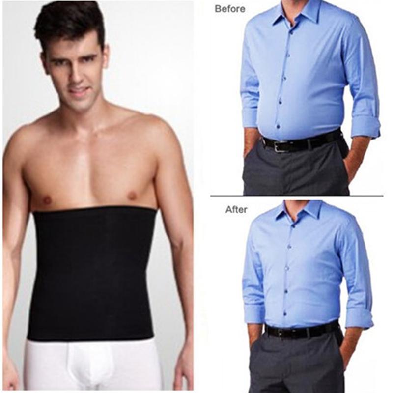 2018 Tight Body Shape Corset belt Slimming Men Belly Shaper Belt Elastic Cinchers Fat Burner Waist with Tummy Control