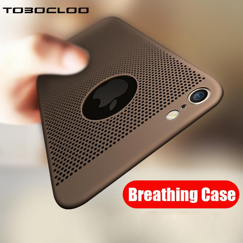 Ultra-thin Cooling For Apple iPhone 5 5s 8 7 6 6s Plus Breathing Phone Case Hard Full Case For iPhone X Phone Case