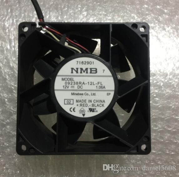 NMB 09238RA-12L-FL Ventilateur de dissipation de chaleur à trois fils 12V 1.06A 90 * 90 * 38mm