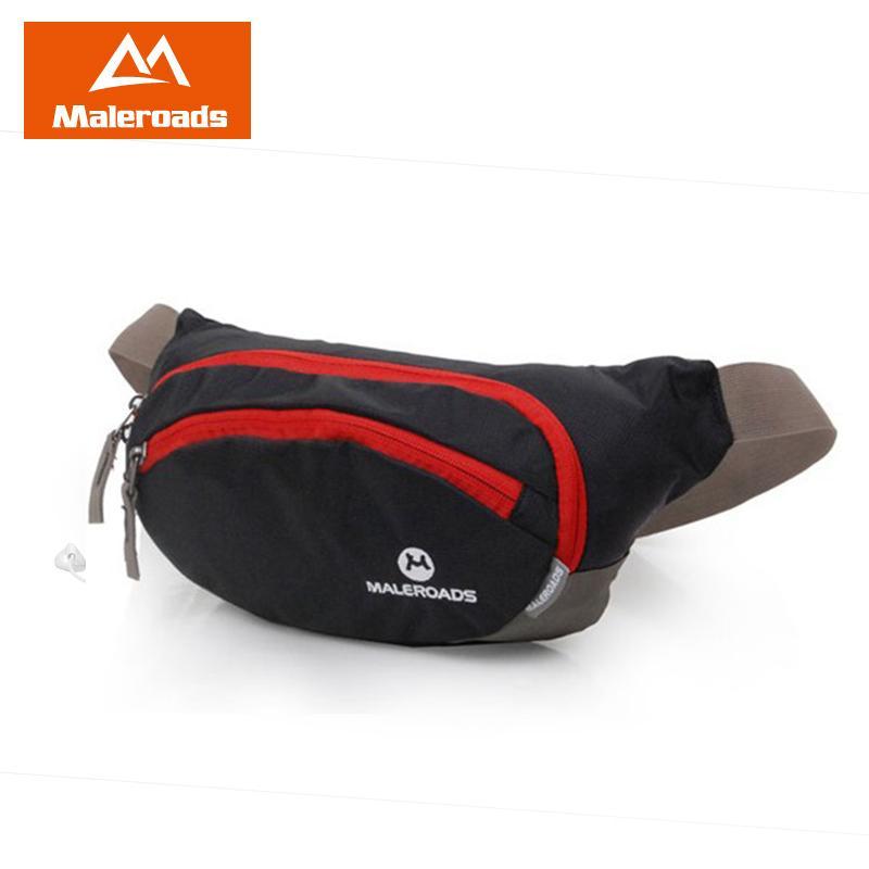 Maleroads Running Waist Pack Waist Pouch Cycling Fanny Pack BELT BAG Large Capacity Hip Pack Hiking Bum bag Cashier Silver bag C18111901