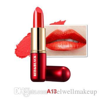 RedBlack Mate Lápiz Labial Barra de labios de terciopelo a prueba de agua 19 Colores Sexy Pigmentos rojos Maquillaje Lápices labiales mate Labios de belleza