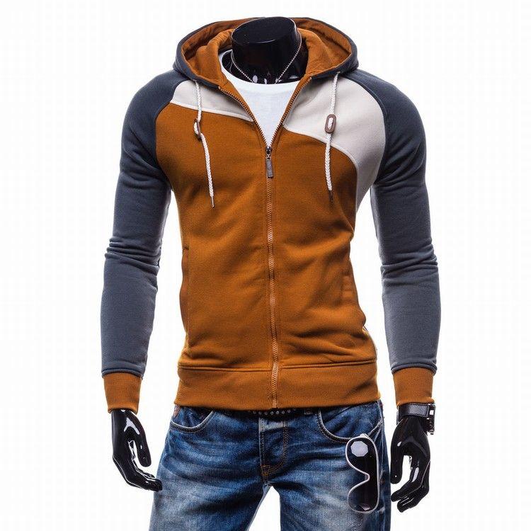 Marque 2018 Hoodies Hommes Sudaderas Hombre Hip Hop Hommes Loisir Zipper Veste Hoodies Sweat-shirt Slim Fit Hommes Hoody XXL