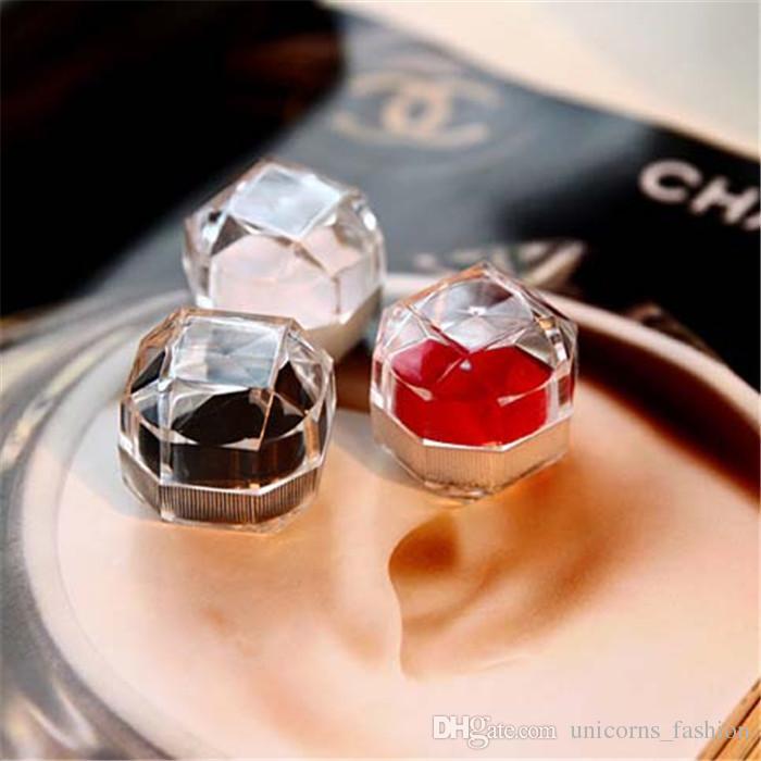 Акриловая Чувствительная коробка для кольца Браслет Кулон Бусинки серьги штыри кольцо держатель дисплея коробки ювелирных изделий коробки и пак 50шт CNY791