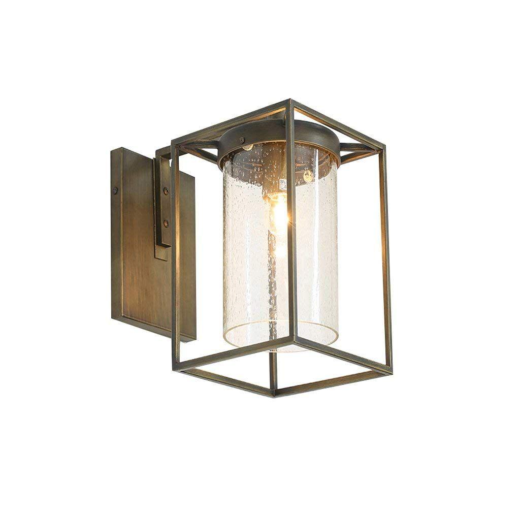 Amerikanischen Land Wandleuchte Industrie Retro Outdoor Balkon Gartenlampe Outdoor Outdoor Glaslampe