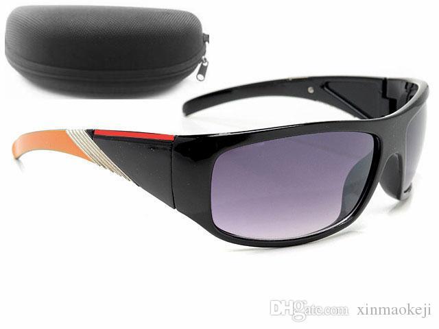Vendita calda Occhiali da sole gratis Colore Brand Brand Sport Ciclismo Occhiali da sole Glasses Glasses Design Glasses Sunground Black Men Spedizione Dazzle Qblkv