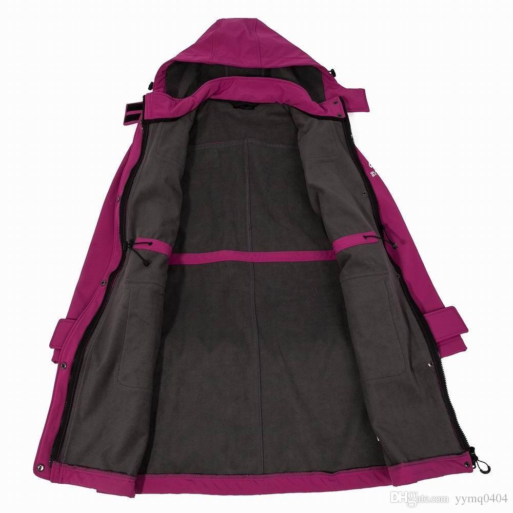 Großhandel Frauen Outdoor Camping Outdoor Sport Lange Jacke Herbst Und Winter Winddicht Thermische Wandern Softshell Fleece Mantel Von Yymq0404,