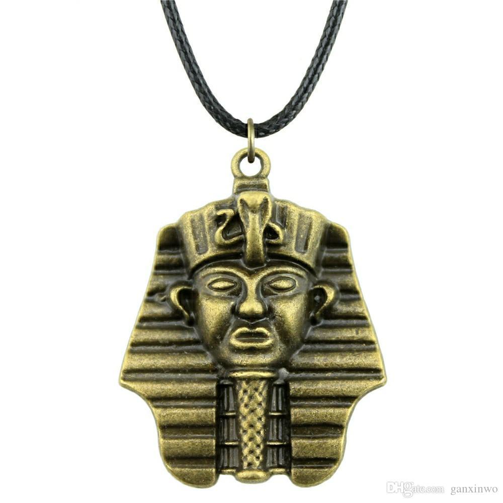 WYSIWYG 5 шт. кожа цепи ожерелья подвески колье воротник женщины ожерелье ювелирные изделия египетский фараон 36x28mm N6-A11417