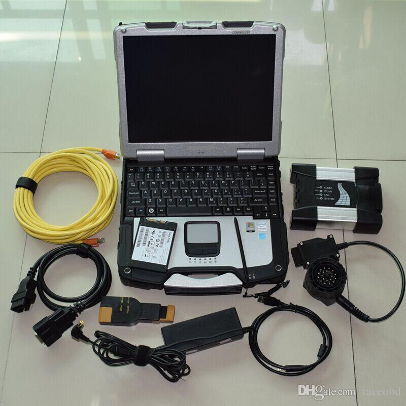 Interfaz de herramientas de diagnóstico BMW ICOM Next SSD 720GB Super Velocidad con computadora CF30 4G Laptop Touch