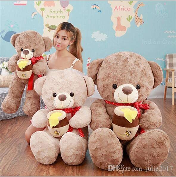 Large Size Lovely Plush Teddy Bear Honey Bear High Quality Intimate Plush Toy For Girlfriend Selling Stuffed Doll