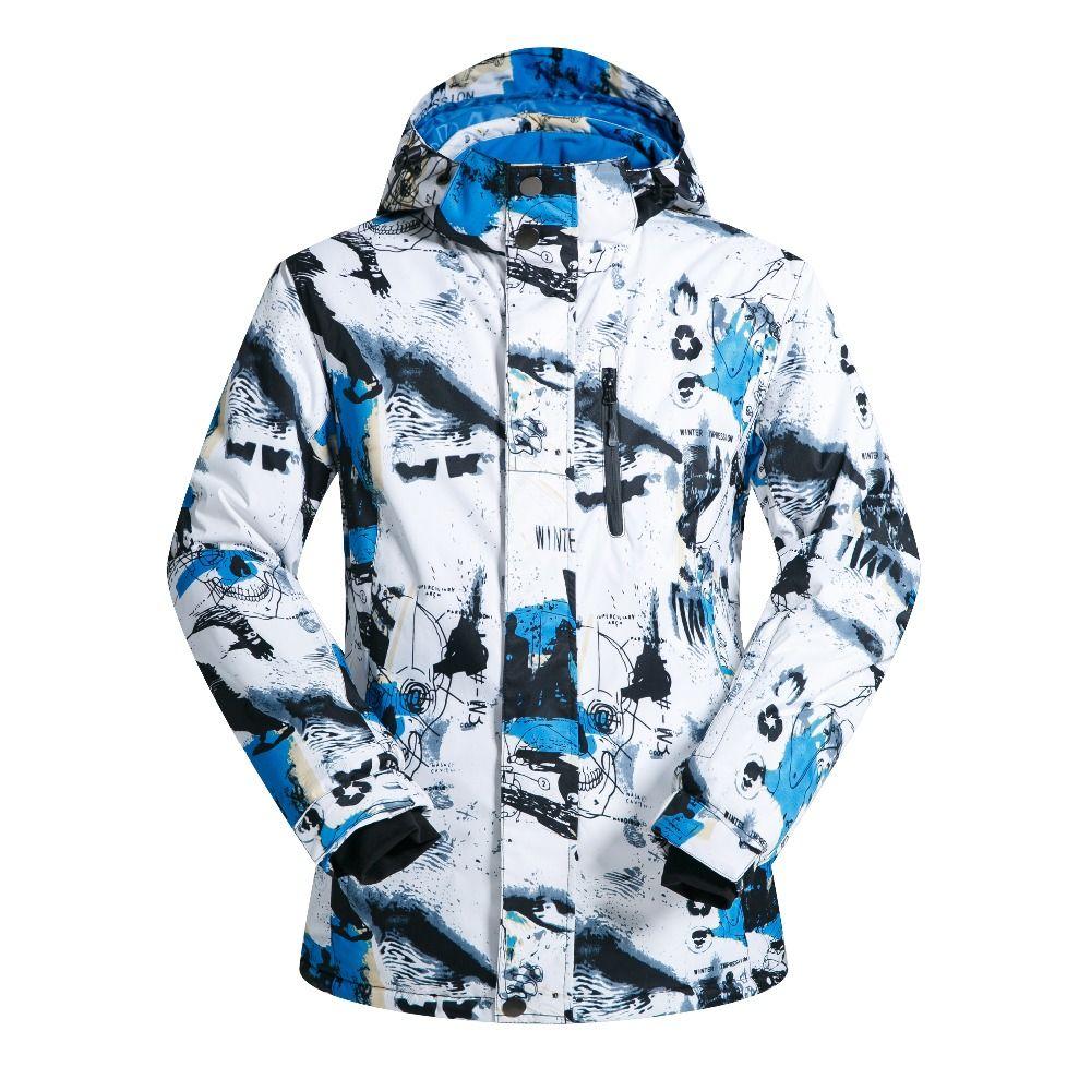2018 Men Snow Skiing Jacket Windproof Waterproof Breathable Men's Snowboard Clothes Teenagers Winter Sports Coat Hiking Coat