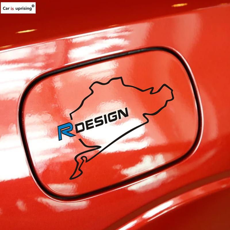 NOUVEAU autocollant de bouchon du réservoir de carburant de voiture de course route Nurburgring pour Volvo S40 S60 S70 S80 S90 V40 V50 V60 V90 XC60 XC70 XC90 Autocollants de voiture