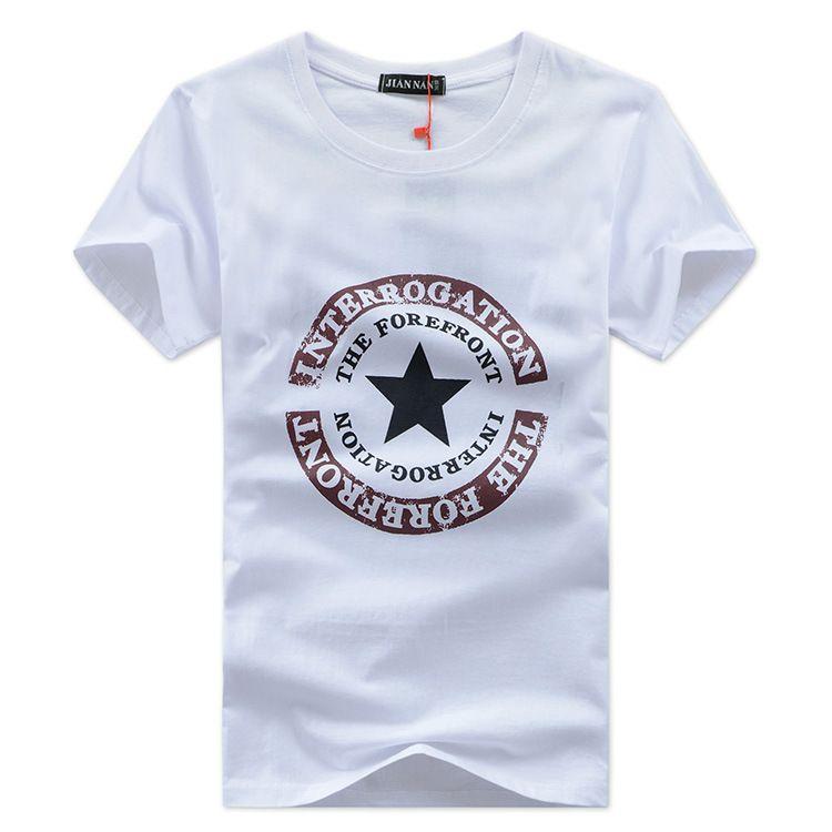 T-shirt da uomo all-ingrosso Moda 2018 T-shirt stella stampata da uomo manica corta Maglietta uomo casual tshirt Top Tees Camisa Masculin