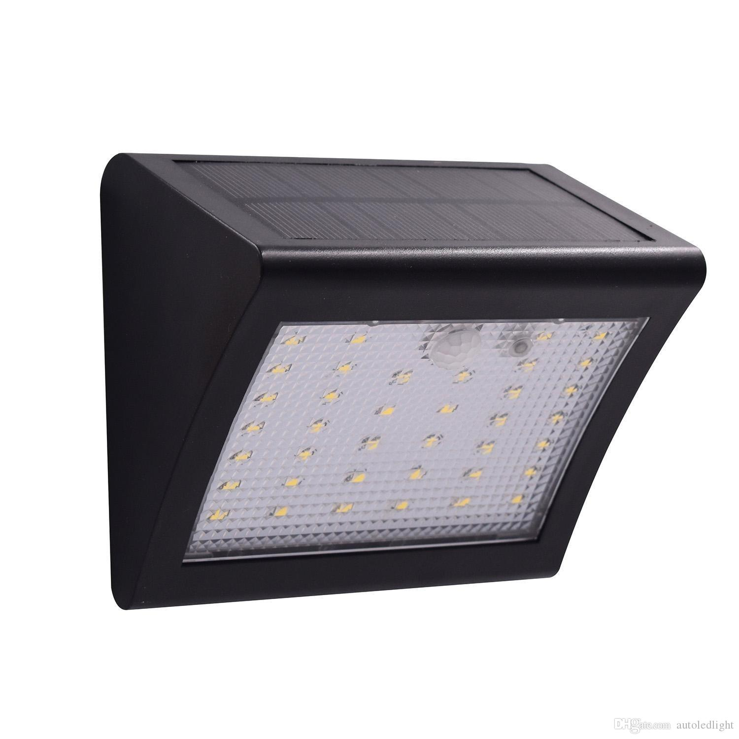 2020 Solar Powered Led Wall Light Outdoor Waterproof Security Lights Pir Motion Sensor Solar Wall Lamp For Garden Patio Driveway Deck Stairs From Autoledlight 8 7 Dhgate Com