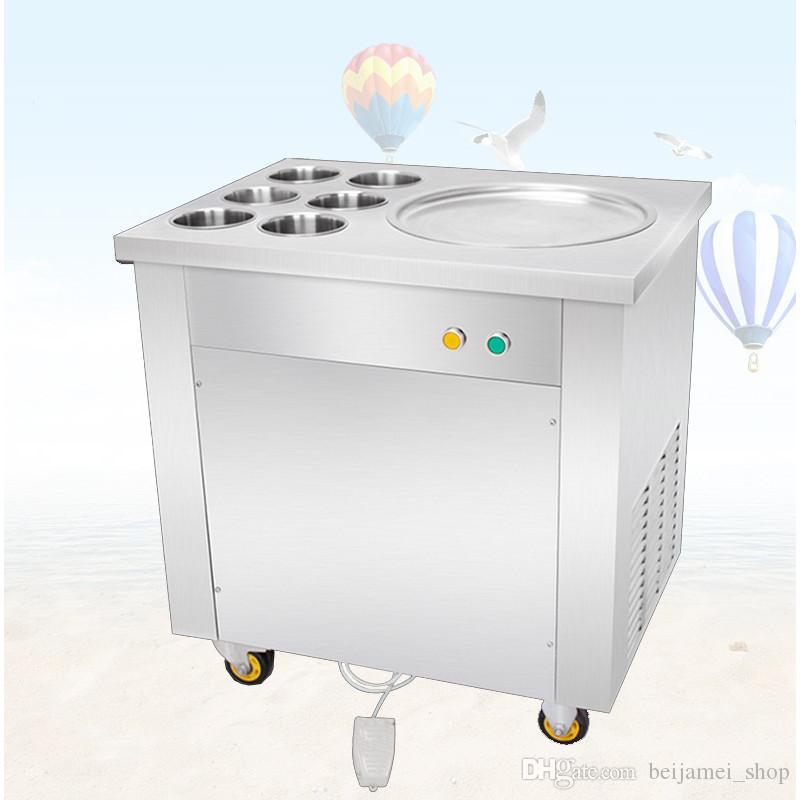 Beijamei Commercial Thaïlande Plateau plat Crème glacée Fabriquée Machine à rouler Machine Traitement des aliments Fry Yaourt Glace Cream Rolls Machines