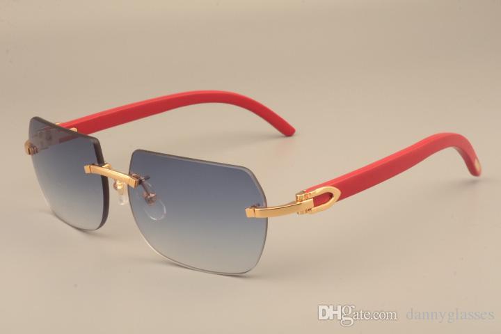 Erkekler ve kadınlar C8100906 masif ahşap tapınaklar güneş gözlüğü ahşap çerçeve tüm doğal güneş gözlüğü boyutunu güneş gözlüğü dekoratif Kırmızı: 56-18-135mm