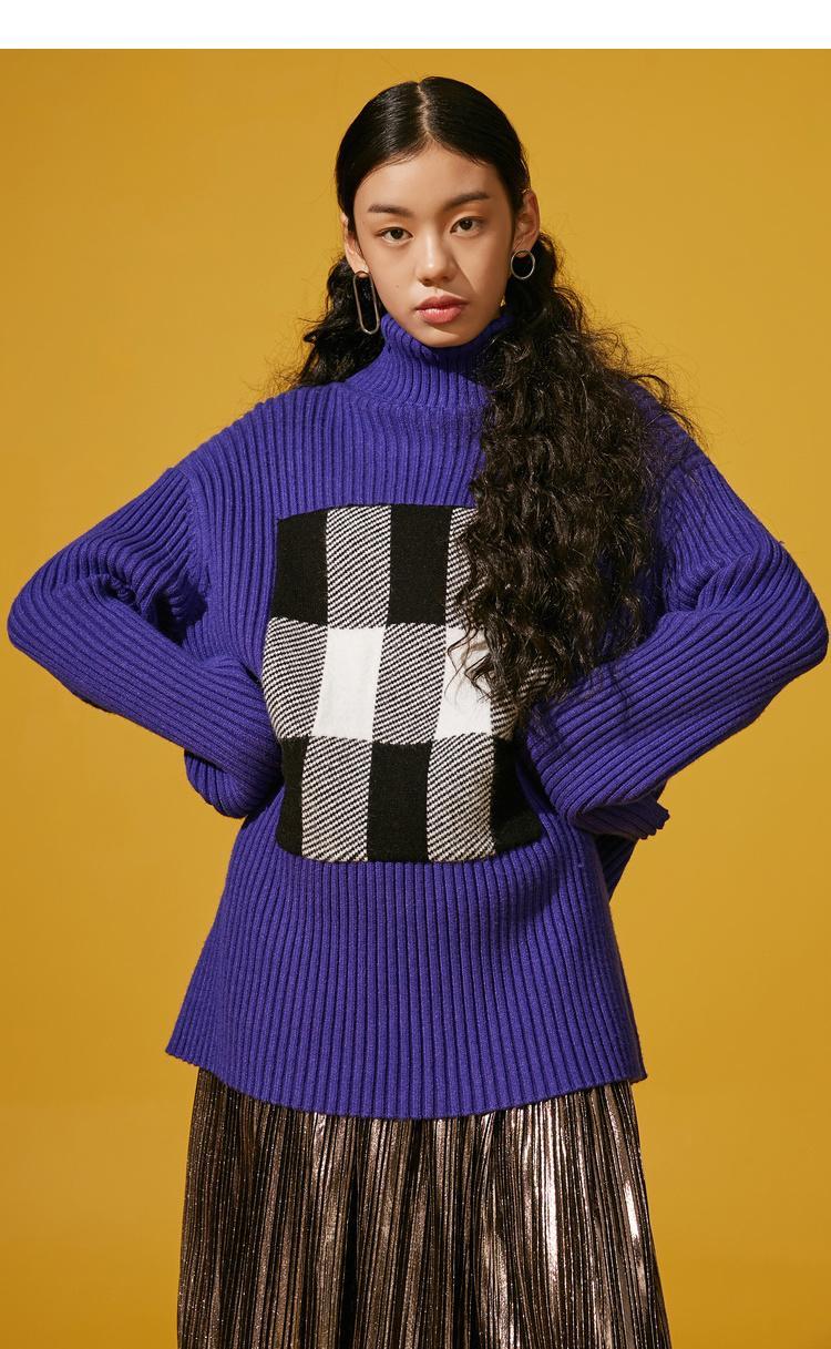 Compre Elf Saco Cálido Nuevo Suéter De Mujer Casual Cuadros De ...
