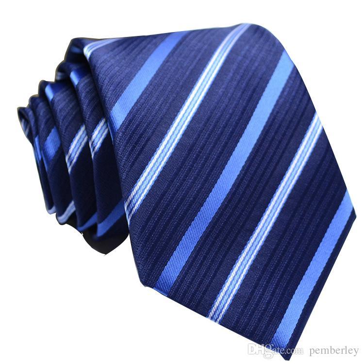 FC7-12 Männer Seidenkrawatte Mode-Männer Krawatten Handgemachte Hochzeit Krawatte Geschäfts Krawatten England Paisley Krawatte Stripes Plaids Dots Krawatte