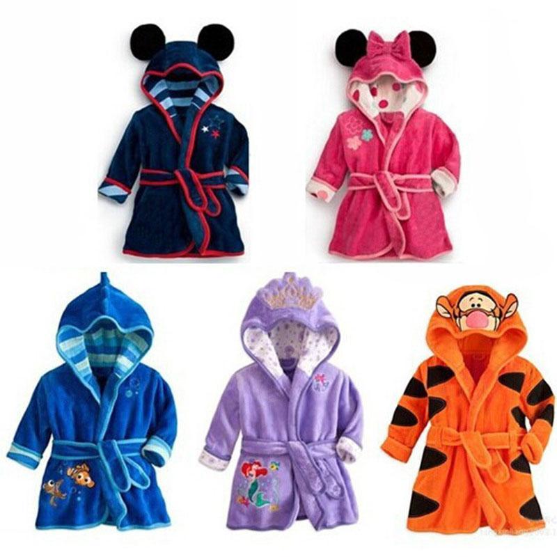 100% authentic 2020 the best attitude Cartoon Children'S Bathrobes Kids Robe Flannel Child Boys Girls Robes  Lovely Animal Hooded Bath Robes Long Sleeve Baby Bathrobe Girls Short  Pajamas ...