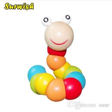 Surwish Baby Toys mudou a cor Twisting Worm bebê brinquedo trem bebê Flexibilidade de dedos