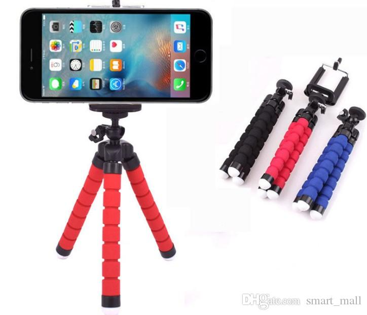 Mini teléfono flexible titular de la cámara Soporte de soporte de trípode de pulpo flexible Soporte monopie accesorios de estilo LLFA