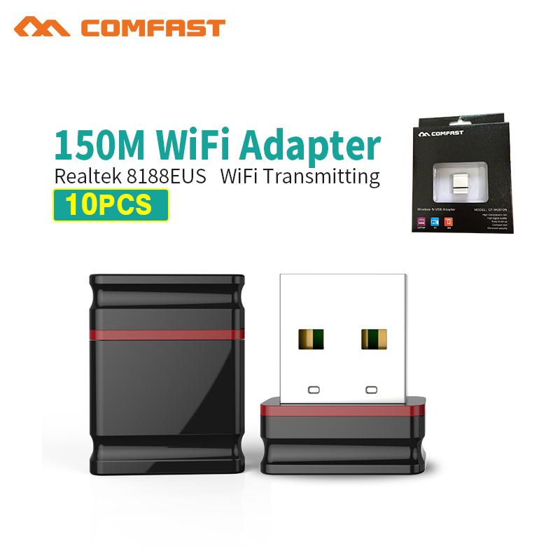 10pcs Retail pack Mini USB Wifi Adapter 150Mbps WiFi Antenna 802.11b/g/n Wi-fi Dongle Wireless Network Card PC USB Wifi Receiver