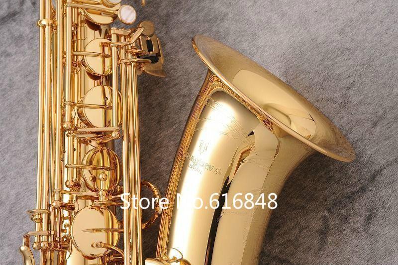 Nuovo strumento musicale di arrivo YANAGISAWA T-WO2 Bb marchio tenore oro lacca Sassofono B ottone piatto con accessori caso