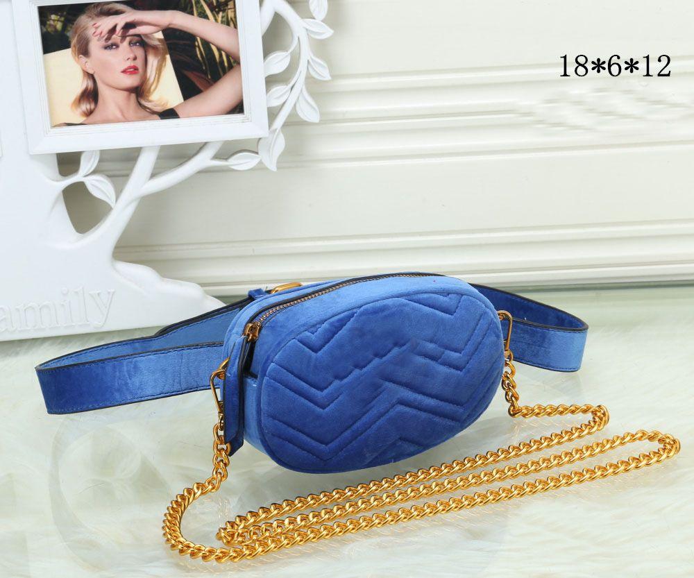 Designer Marmont Pequeno Chevron Saco de Veludo 476434 Mulheres Saco de Luxo Bolsas Bolsa Famosa Cintura Crossbody Cinto Feminino Handbags Waistpacks PFNCB