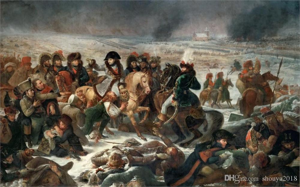 Envío gratis Poster War Antoine Napoleon en la batalla de Eylau 9 de febrero de 1807 pintura batalla Lienzo Impresión del cartel