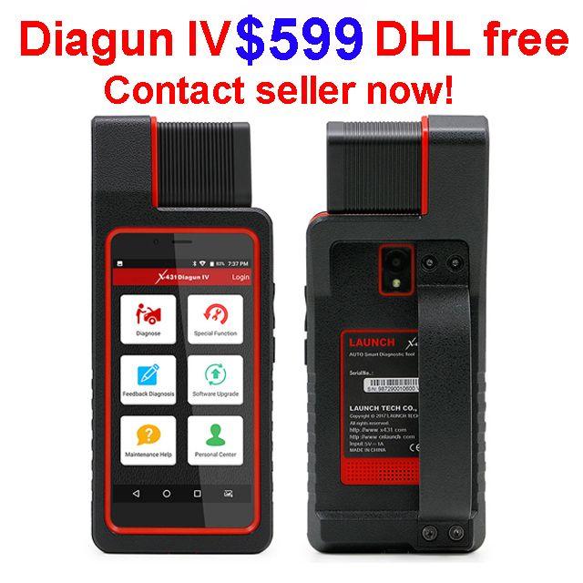 X431 Diagun IV 진단 도구 출시 2 년 무료 업데이트 VIA Wifi / Bluetooth 25 선물 X431 Diagun IV diagun iii보다 낫다.