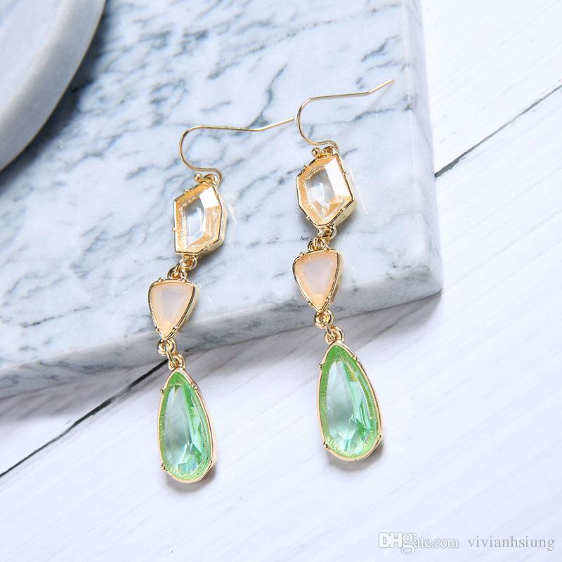 New österreichischen Kristall baumeln Ohrringe Frauen Ohrschmuck 925 Sterling Silber Ohrringe für Hochzeit