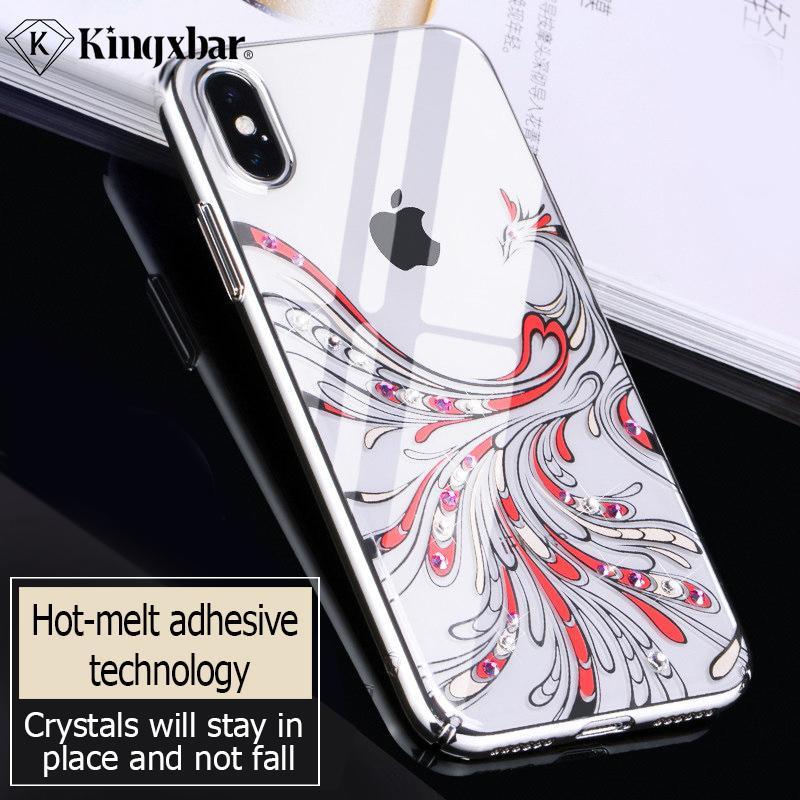 Toptan Lüks Şeffaf Kılıf iphone Xs Max Rhinestone Desenli Kapak için iPhone Xs Max Çapa Moda Thine