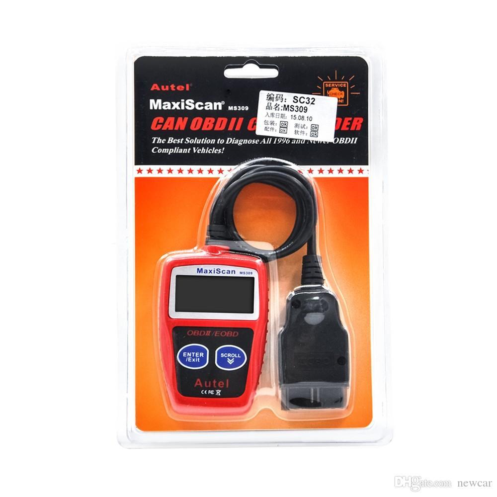 2018 Autel MaxiScan MS309 CAN BUS OBD2 Kod Okuyucu EOBD OBD II Teşhis Aracı Autel MS309 Kod Tarayıcı PK OM121 MS300 KW806