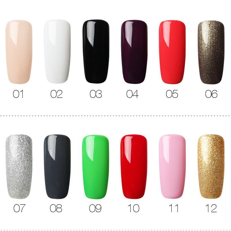 Rosalind 01-58 renkler serisi Jel oje Damgalama için Parlak Renkli jel cila Gerekir TopBase Coat vernik